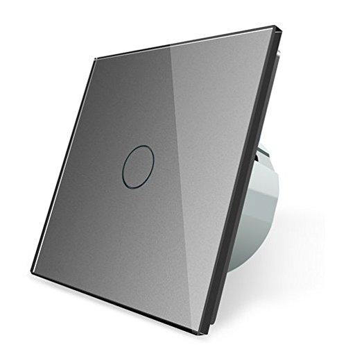 Funk Wechselschalter Kreuzschalter Lichtschalter Touchscreen LIVOLO C701SR-15 (Grau)