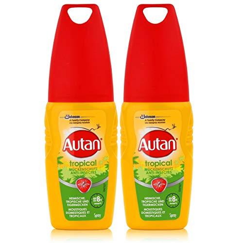 Autan Mückenschutz Tropical Pumpspray 100ml - schützt auch bei hoher Luftfeuchtigkeit und Schweißbildung bis zu 8 Stunden vor Mücken (2er Pack)