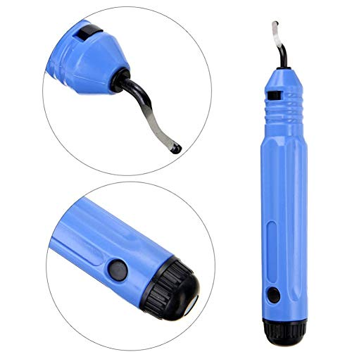Tragbare Handentgrater-Werkzeugsatz,Burr Trimmen Cutter Entgratwerkzeug Professionelle Edge Removal Tools,Schwarz