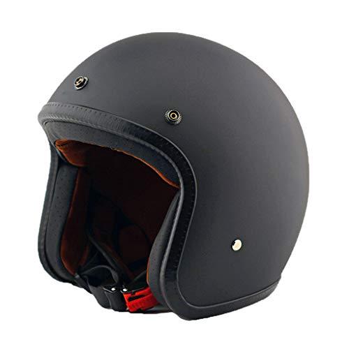 Open Face Fietshelm elektrische helm motorhelm unisex sub zwart-XL