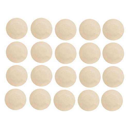 IFFEI 20 Pairs Satin Nipple Breast Covers, Sexy Breast Pasties Adhesive Bra Disposable