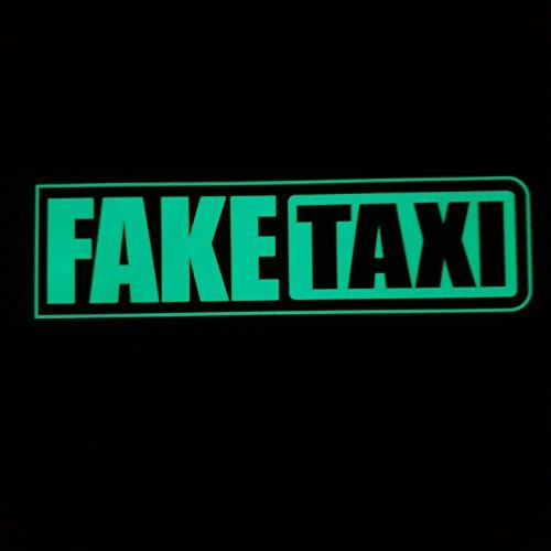 folien-zentrum Fake Taxi Leuchten im Dunkeln Nachleucht leucht Shocker Hand Auto Aufkleber JDM Tuning OEM Dub Decal Stickerbomb Bombing Sticker Illest Dapper Fun Oldschool