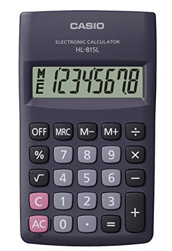 CASIO HL-815L calcolatrice tascabile - Display a 8 cifre, con radice quadrata