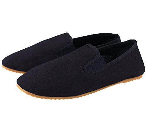 BAY® Kung Fu Slipper Schuhe schwarz (43)