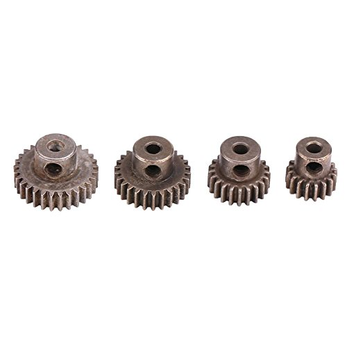 Dilwe RC Motor Gears, 21T/29T/17T/26T Accesorio de Pinones de Acero para HSP94111 94123 1:10 RC Coches