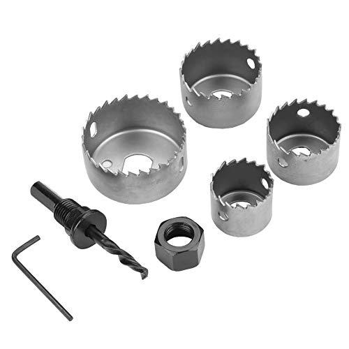 FTVOGUE - Juego de brocas para sierra perforadora (acero de alto carbono, 32/38/44/54 mm)