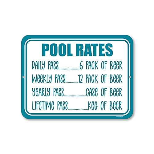 Sonamdws Pool priser skyltar skylt nyhet rolig metall tennskyltar vintage look skylt plakat affisch för utomhus inomhus dekor konstskyltar, 20 x 30 cm (8 x 12 tum)