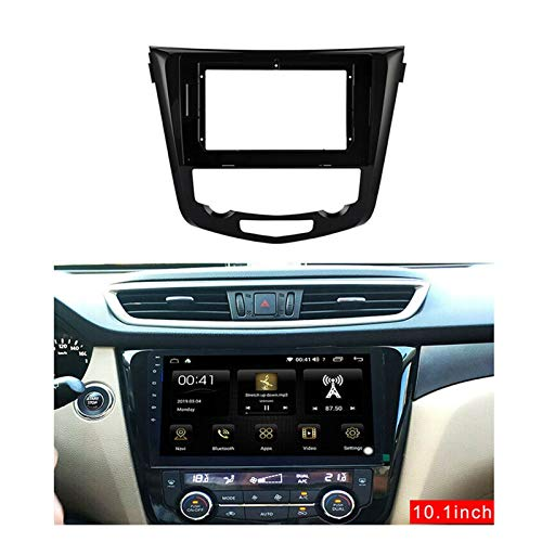 XHAJFNCO Little Rich Man 2din Coche Radio Fascia Marco Android GPS Panel Dash Frame Kit Fit para Nissan X-Trail X Trail 3 T32 2014-2018 (Color Name : Black)