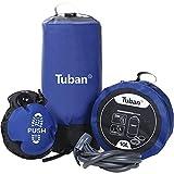 Funihut Douche de Camping Nomade 10 L avec Pompe à Pied, Outdoor Sac de Bain Pliable sous Pression Portable Douche Solaire Douche