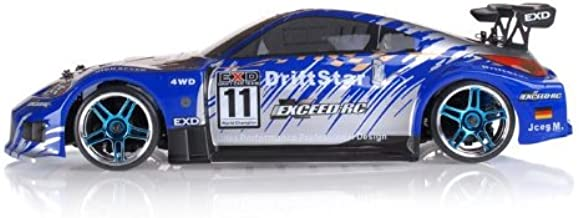 Exceed-RC 2.4Ghz Brushless Version Drift Star Electric Powered RTR Remote Control Drift Racing Car 350 Carbon Blue Style
