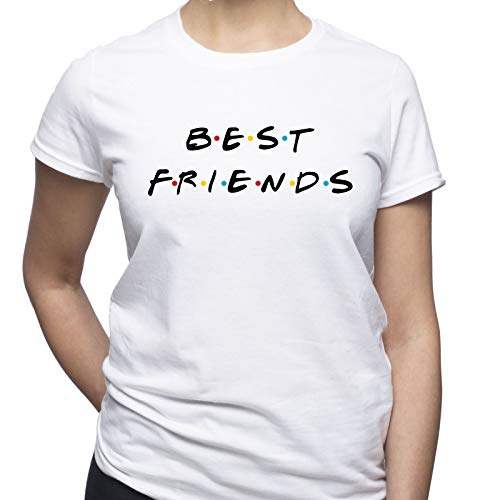 Best Friends Friends Tv Show Damen T-Shirt Weiß S