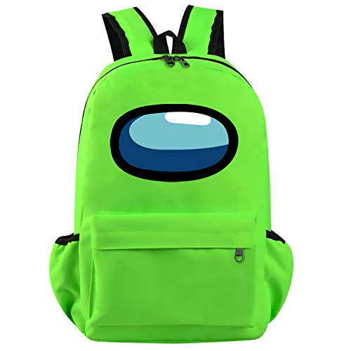 Runbar Among Us Green Daypack Casual School Backpack for Teenagers College Classrooms