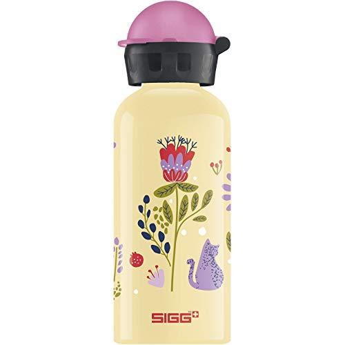 SIGG Free as a Bird Kinder Trinkflasche (0.4 L), schadstofffreie Kinderflasche mit auslaufsicherem Deckel, federleichte Trinkflasche aus Aluminium