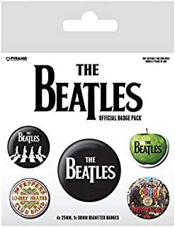 Pyramid International The Beatles White Badge, Multi-Colour, 10 x 12.5 x 1.3 cm