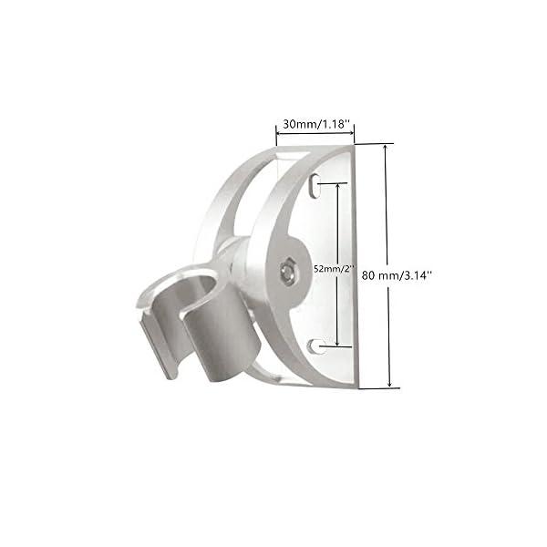 GKANGU Soporte de Ducha Rotativo Shinny Aluminio DIY Baño Titular de Ducha Sólido