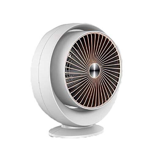 Wash Calentador de Espacios, 800W Calentador portátil con termostato, vuelco y el sobrecalentamiento Apagado automático, rápido Calentador calefacción Escritorio para Uso en Interiores,Blanco
