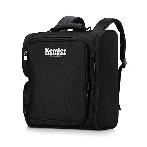 Kemier Professional Makeup Artist - Mochila con bolsas transparentes para cosméticos, bolsa...
