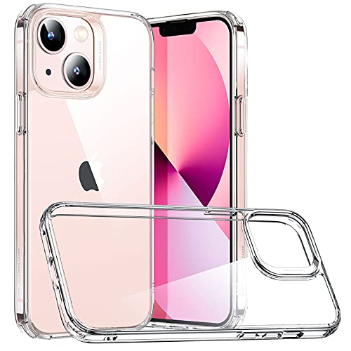 ESR Funda Híbrida Compatible con iPhone 13 Mini, Parte Trasera Resistente a Arañazos, Marco Protector Antideslizante, Serie Classic, Transparente