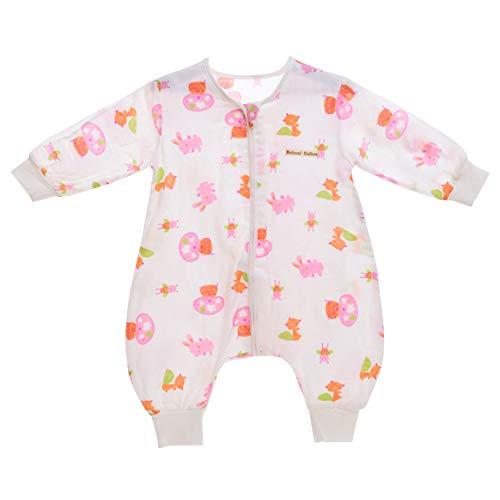 YFCH Baby/Kinder Jungen/Mädchen Schlafsack Kinderschlafsack Langarm Schlafsack Baumwolle Musselin Babyschlafanzug Schlummersack mit Bein,...