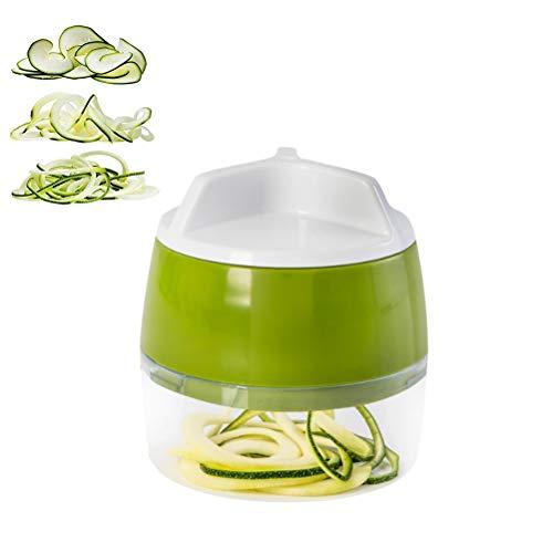 Ailyoo 3-in-1 Gemüseschneider, Spirale, robust, für Spaghetti Zoodle mit geringem Kohlenhydratgehalt