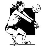 Volleyball Spieler Wandaufkleber Weibliche Sport Vinyl
