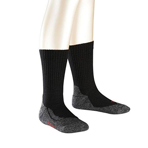 FALKE Kinder Socken Active Warm 3er Pack 23-26 Black