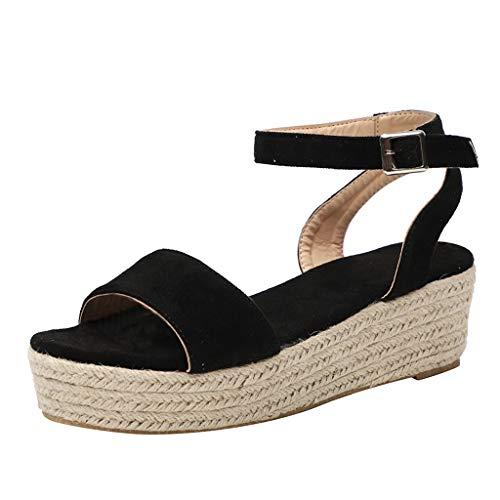 Zapatos Mujer Verano 2019 Sandalias de Cuña con Plataforma - - Tejer...