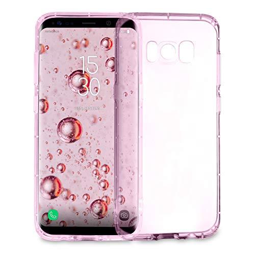 MyGadget Hülle für Samsung Galaxy S8 - TPU Hülle Crystal Clear und Stoßfest Schutzhülle - Silikon Back Cover Slim Handyhülle in Rosa