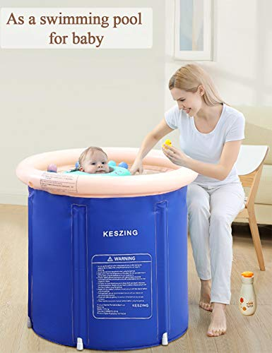 Inflatable Bathtub Portable Bathtub Sauna Foldable Hot Tub in Small Spaces Spa for Shower Stall Plastic Adult Size