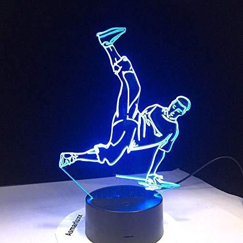 Estéreo de la Luz de la Calle de la Danza Led USB 3D Luces de la Noche de 7 Colores Led 3D Lámpara de Disco 3D Decoración Luces Hip-Hop Cultura Rompiendo Bloqueo Popping