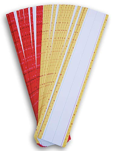 Teaching Tree Writing Practice Word Strips - 30 Count (Yellow & Red Small Star Pattern)