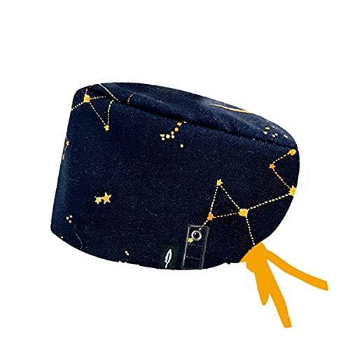 Modelo: NIT CON SISTEMA CLICK - Pelo Largo -Gorro de Quirófano ROBIN HAT con sistema de sujeción con click - Ajustable - 100% algodón (Autoclave)
