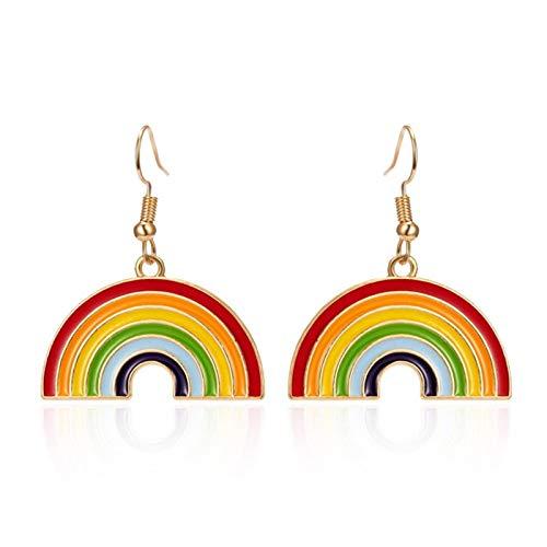 QIN Clásico LGBT Arco Iris Arco Iris Pendientes homosexuales arrogantes aleación de la aleación 珐 珐 Pendientes Colgantes de la joyería de Moda de Las Mujeres de los Hombres