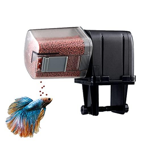 Holzsammlung Comedero de Peces Automáticos, Automático de Peces Inteligente Alimentador de Tiempo para Acuarios Dispensador de Comida de Pescado para Vacaciones y Fines de Semana