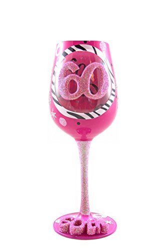 Top Shelf 60th Birthday Wine Glass - Hand-Painted - Unique Gifts for Women