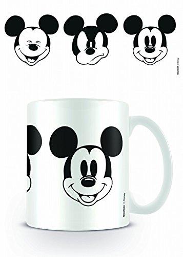 1art1 Micky Maus - Faces Foto-Tasse Kaffeetasse 9 x 8 cm