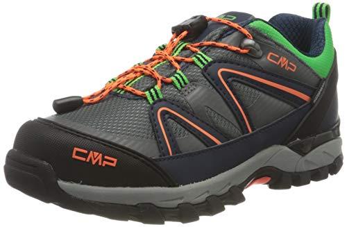 CMP Kids SHEDIR Low Hiking Shoes WP, Scarpe da Camminata, Graffite Orange Fluo, 35 EU