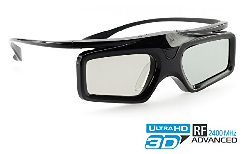 Hi-SHOCK® Advanced RF 3D Brille Power Light   Funk 3D-Brille für Hi-Shock® 3D-RF Advanced Kit für Optoma RF Beamer / Projektoren [2.4G-RF   96-144 Hz   cr2032   Batterie]