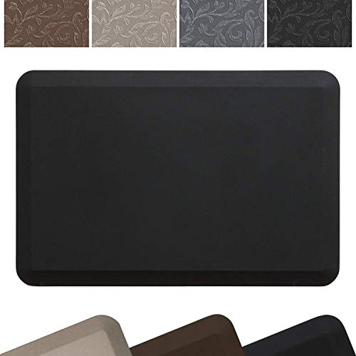 NewLife by GelPro Professional Grade Anti-Fatigue Kitchen & Office Comfort Bio-Foam Mat with non-slip bottom for health & wellness, 24x36, Midnight