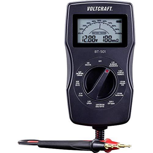 VOLTCRAFT Batterietester BT-501 Messbereich (Batterietester) 1,2 V, 1,5 V, 3 V, 6 V, 3,7 V, 9 V, 12 V Batterie, Akku BT