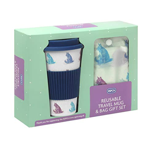 RSPCA Travel Mug & Shopper Bag Gift Set - Cats