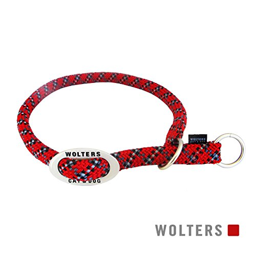 Wolters | Schlupfhalsband Everest reflektierend in Rot/Schwarz | L 30 - 35 x B 0,9 cm