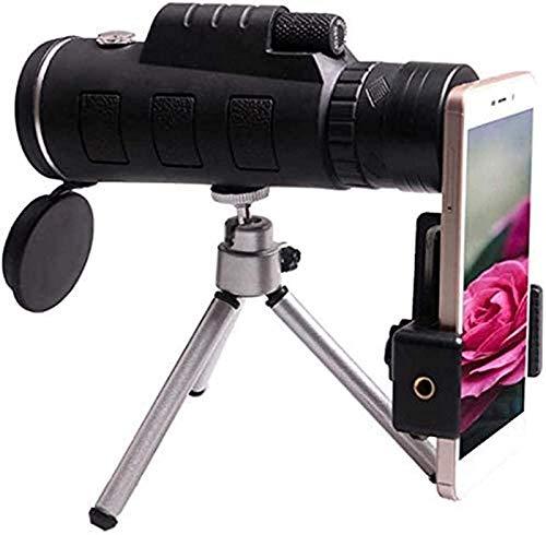 J-Love Telescopio monocular para teléfonos móviles con brújula y trípode, telescopio Refractor astronómico, minitelescopio, aplicación Duradera para Exteriores
