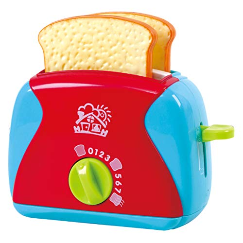 PlayGo Lightweight Play Kitchen Bread Slices Toaster Toy Pretend Play Pop-Up for Kids Age 3 Years & Up, Model: 3152