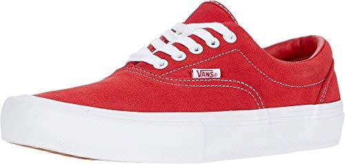 Vans Era Pro (Suede) Red/White Fashion Sneaker Shoes Men's 7 / Women's 8.5