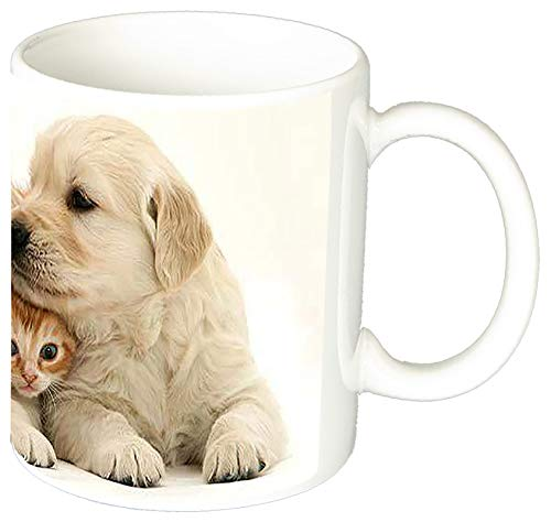MasTazas Golden Retriever Con Gatito Tasse Mug