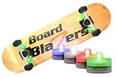 NEW IMPROVED CUSTOM ADHESIVE: This brand new industrial grade adhesive is custom designed and manufactured in the USA to keep these LED lights secure. STAY VISIBLE AT NIGHT: Light up the night while riding with these classic skateboard lights. Other ...