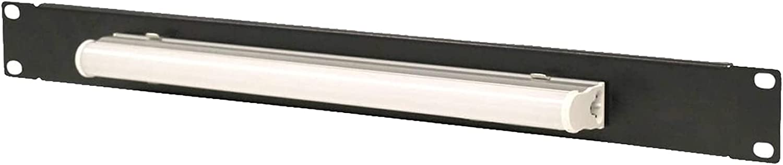 1U Steel Panel Light, Used for Standard 19-inch Server Cabinet Rack Lighting Panel, Black (SPCC Cold Rolled Steel)
