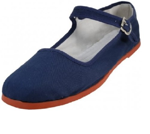 Shoes 18 Womens Cotton China Doll Mary Jane Shoes Ballerina Ballet Flats Shoes (9 B(M) US, 114-t Navy)
