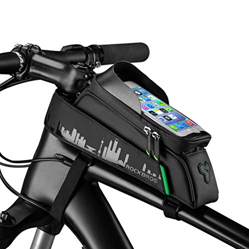 ROCKBROS Bike Phone Mount Bag Waterproof Bike Phone Front Frame Bag Cell...